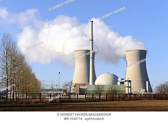 Grafenrheinfeld power plant, Lower Franconia, Bavaria, Germany, Europe