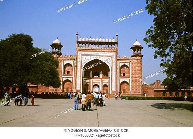 Entrance Structure of Taj Mahal, Agra, India