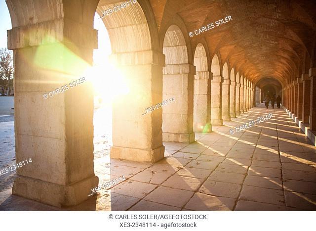 Arcos al atardecer, Aranjuez
