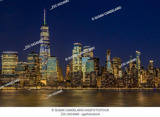 Manhattan NYC Skyline Twilight