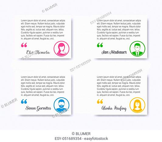 Personal profile business people colorful circle avatar collection