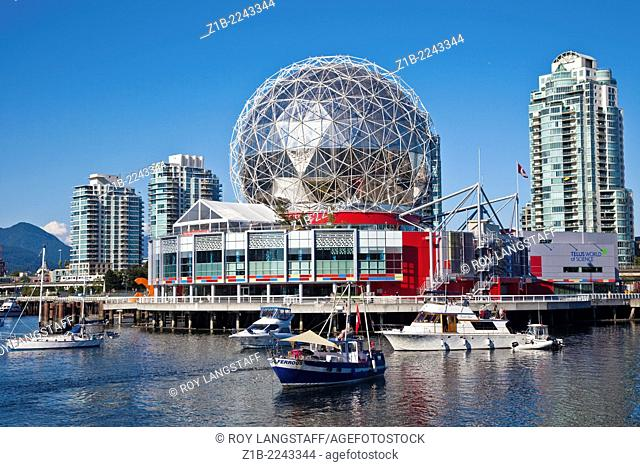 Science World golfball in Vancouver, british Columbia