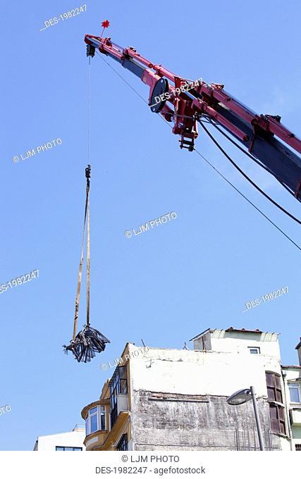 heavy construction near taksim square, istanbul turkey