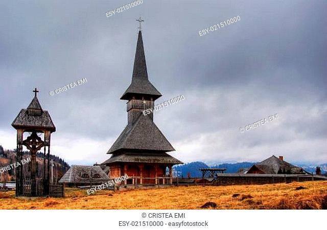 Wooden church in Transylvania, Romania