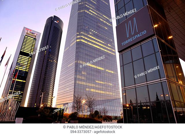 Four towers Business area of Madrid north, Spain