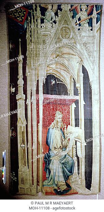 La Tenture de l'Apocalypse d'Angers, Grand Personnage assis sous un Baldaquin 4,37 x 2,25m