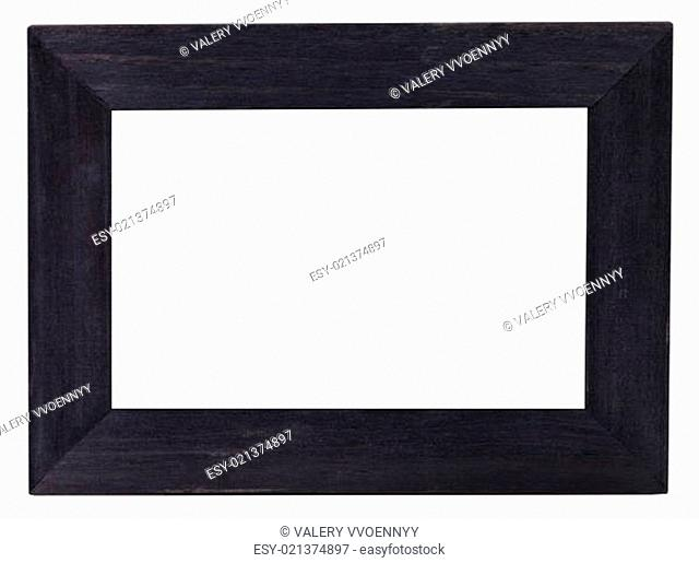 wide flat black picture frame