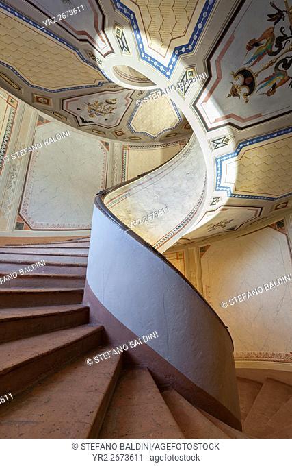 Palazzo Barozzi's winding staircase, Vignola, Modena, Italy