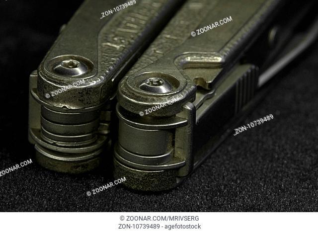 multitool Steel knife macro shot