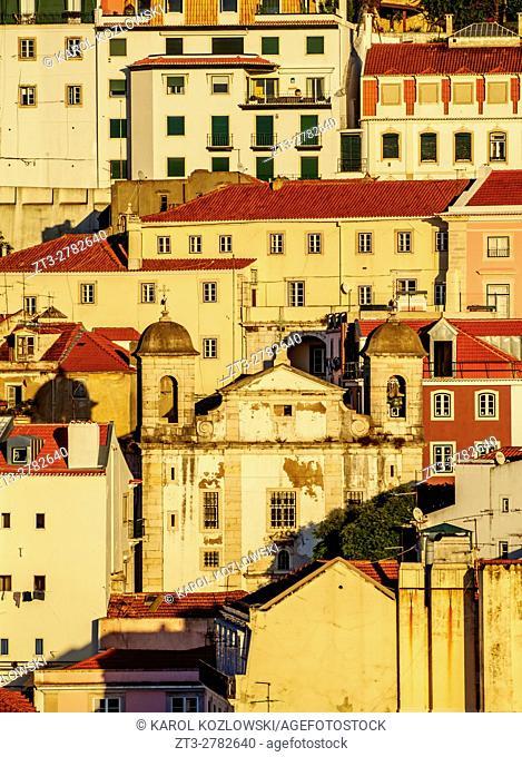Portugal, Lisbon, View towards the Sao Cristovao and Sao Lourenco Church