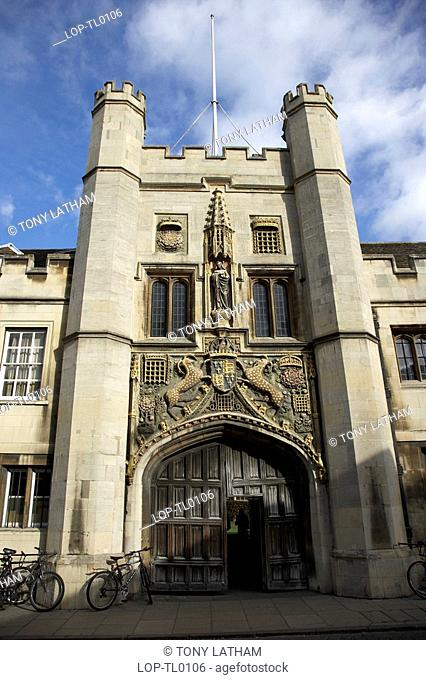 The Great Gate at Christ's College. Founded in 1437 and widely recognised as the top Cambridge College for academic excellence over the past twenty years