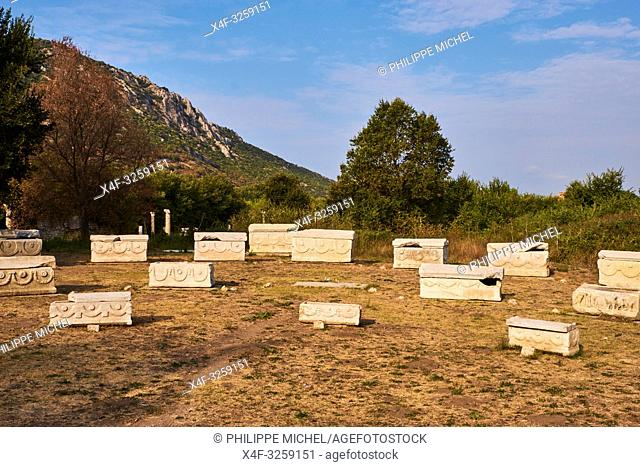 Turkey, Izmir province, Selcuk city, archaeological site of Ephesus, cimetery