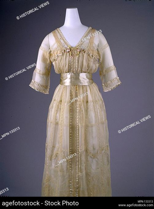 Dress. Designer: Lucile (British, 1863-1935); Date: 1916-17; Culture: British; Medium: silk, cotton; Credit Line: Gift of Julia B