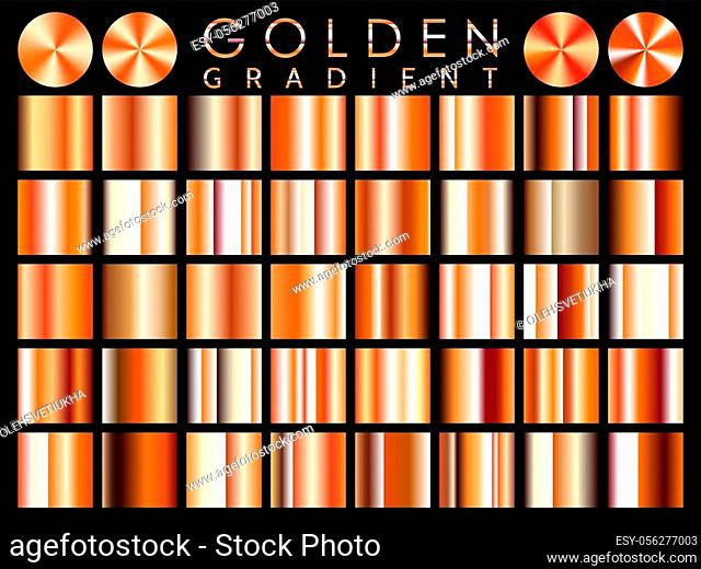 Gold background texture vector icon seamless pattern. Light, realistic, elegant, shiny, metallic and golden gradient illustration. Mesh vector