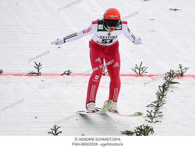 German athlete Eric Frenzel competes in the men's 10 kilometre combination event at the Nordic Ski World Championship in Lahti, Finland, 28 February 2017