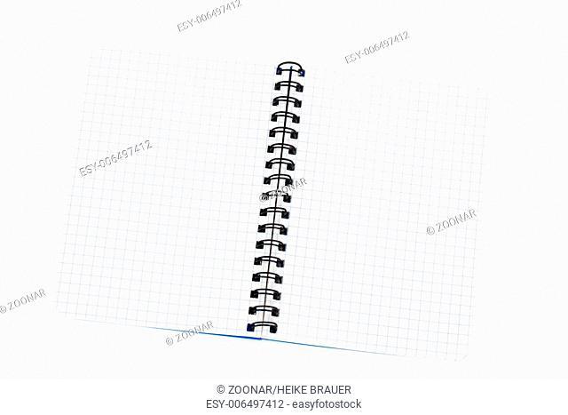 Notebook blue checked oblique