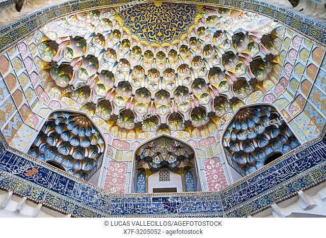 Detail of main gate, Abdul Aziz Khan Medressa, Bukhara, Uzbekistan