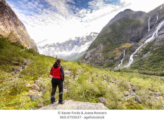 Kjenndalsbreen Glacier in Kjenndalen valley, Stryn, Vestland, Norway