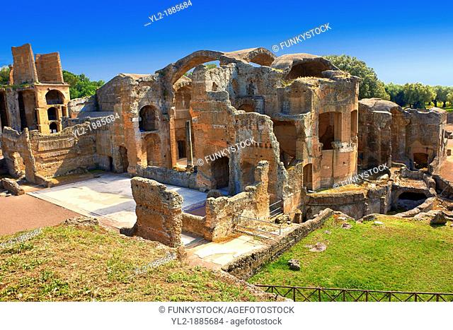 Thermal Grand Baths at Hadrian's Villa  Villa Adriana  built during the second and third decades of the 2nd century AD, Tivoli