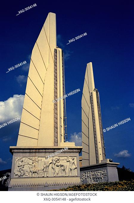 Democracy Monument Anusawari Prachathipatal in Bangkok in Thailand in Southeast Asia Far East