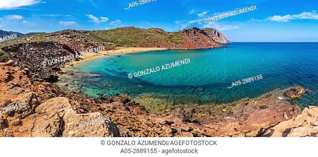 Cala Pilar Beach. Ciutadella de Menorca Municipality. Minorca. Balearic Islands. Spain