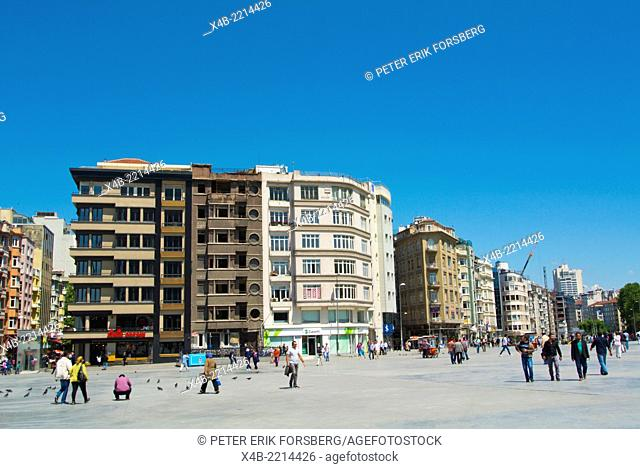 Taksim square, Beyoglu district, central Istanbul, Turkey, Eurasia
