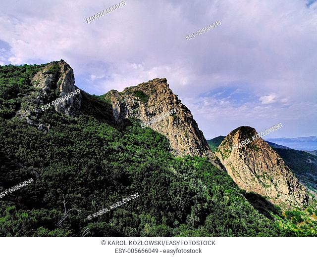 Los Roques - The Rocks on the island La Gomera, Canary Islands, Spain