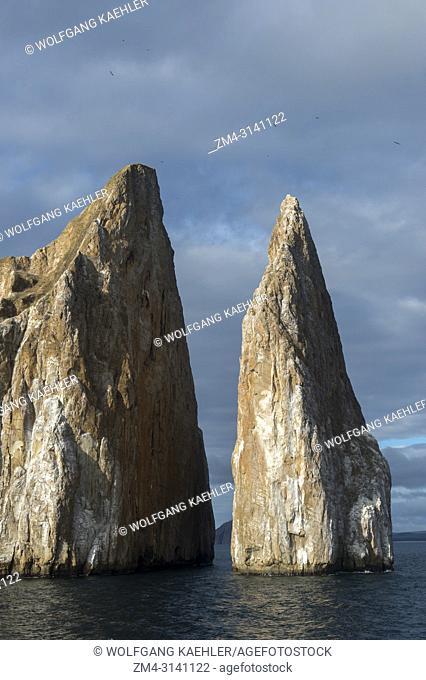 View of Kicker Rock near San Cristobal Island (Isla San Cristobal) or Chatham Island, Galapagos Islands, Ecuador