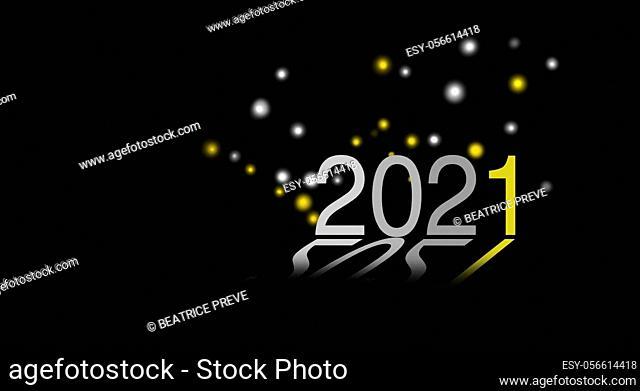 illustration of new year 2021