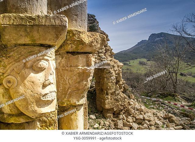 Medieval hermit in the Purón river gorge. Merindades de Castilla, Burgos, Spain