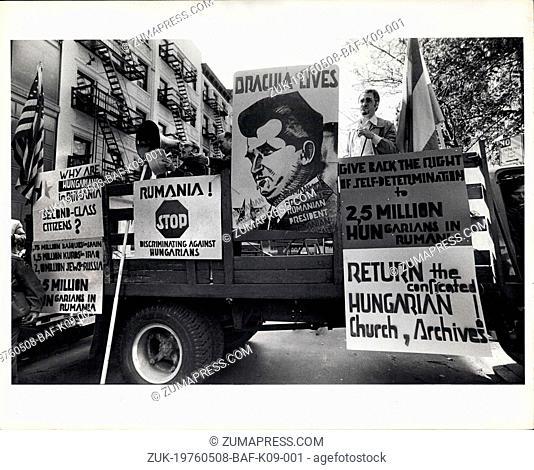 May 08, 1976 - Oppression Of Hungarians in Romania Demonstration. (Credit Image: © Keystone Press Agency/Keystone USA via ZUMAPRESS.com)
