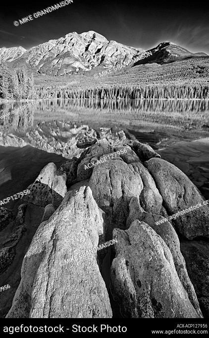 Pyramid Mountain and Pyramid Lake Jasper National Park Alberta Canada