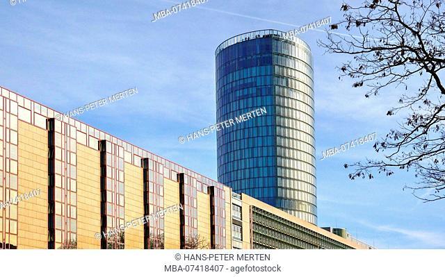 Hyatt Regency Hotel and Cologne Triangle Tower, Cologne, North Rhine-Westphalia, Germany