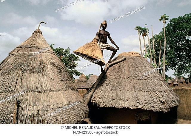 Hut. Atakora. Benin