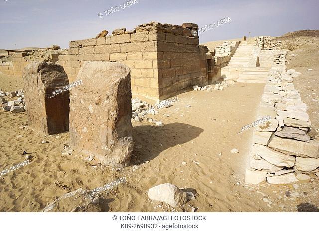 Mastaba of Ka-Gmni. VI Dynasty. Archeological remains. Saqqara necropolis. Egypt