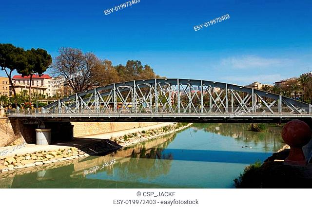 Puente Nuevo over Segura in sunny day. Murcia