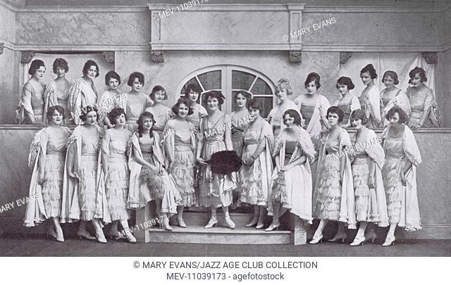 The Lady Godiva Tableau Vivant arranged by Ben Ali Haggin from the Ziegfeld Follies of 1919, New Amsterdam Theatre, New York