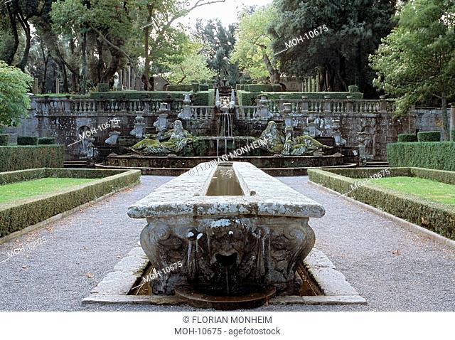Tisch des Kardinals Mensa del Cardinale und Brunnen der Giganten