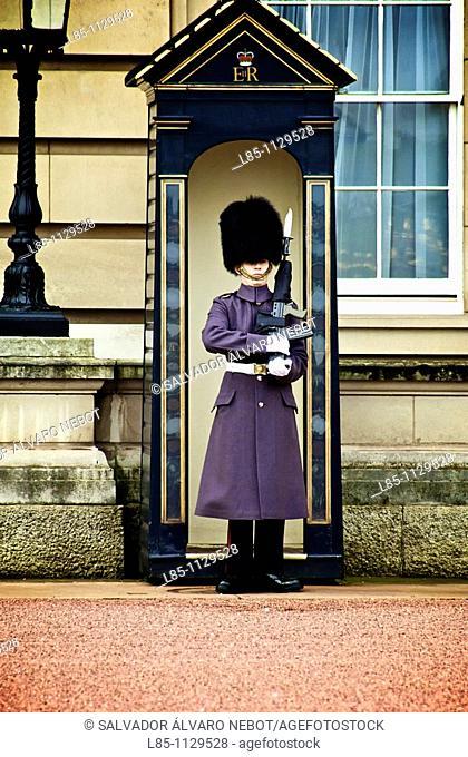 Buckingham Palace Guard, London, England