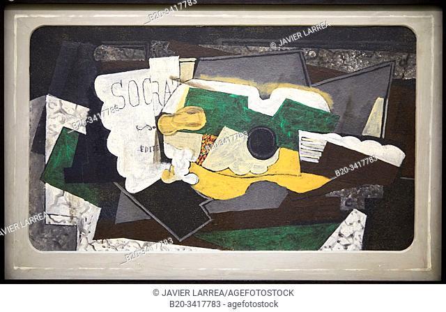 """Guitare et verre"", 1921, Georges Braque, Centre Pompidou, Paris, France, Europe"