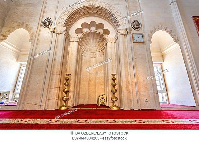 Interior of Sehidiye Mosque and Madrassa, a popular landmark in Mardin, Turkey. 17 June 2018