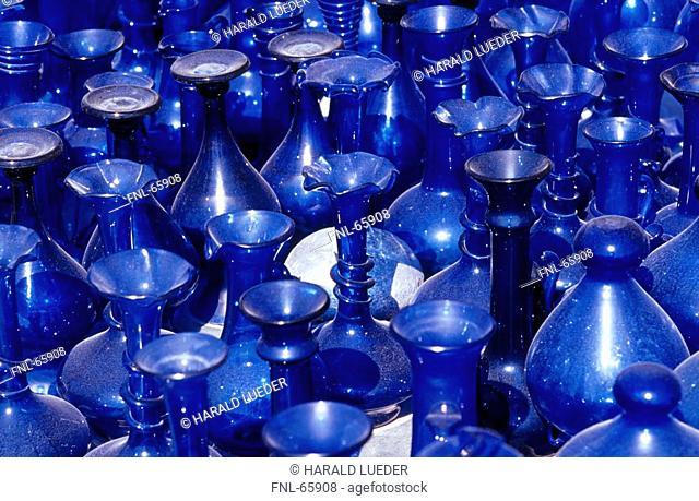 Blue glasses in shop, Byblos, Lebanon