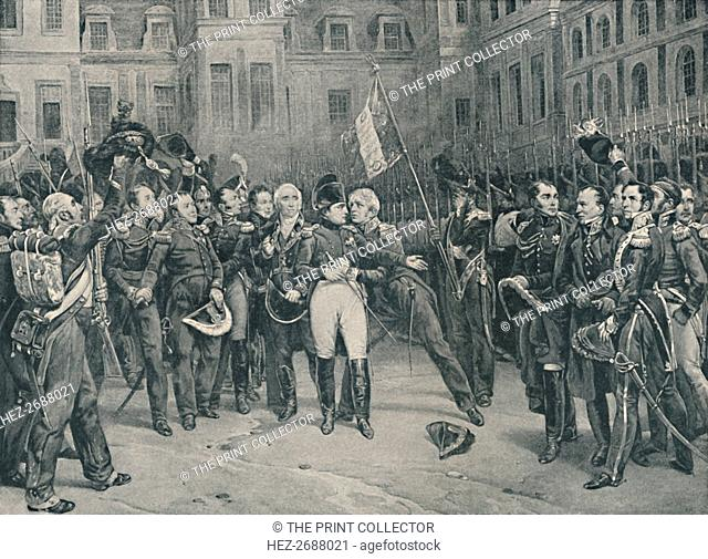 'Napoleon's Farewell To The Imperial Guard At Fontainebleau, April 20, 1814', (1896). Artist: Unknown