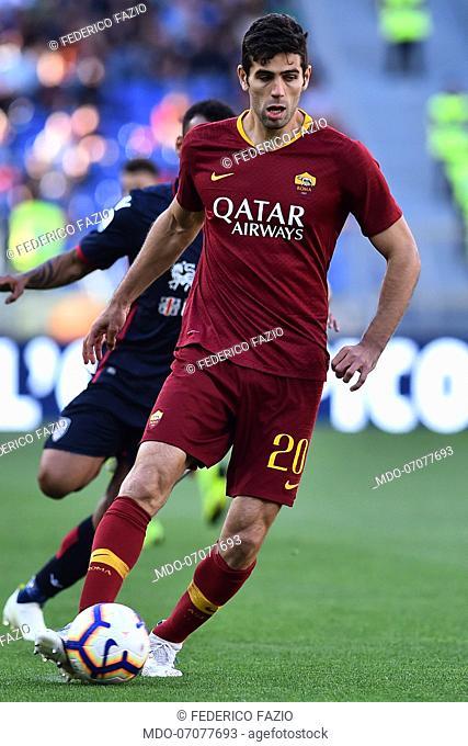 Roma football player Federico Fazio during the match Roma-Cagliari in the Olimpic stadium, Roma (Italy) April 28th, 2019