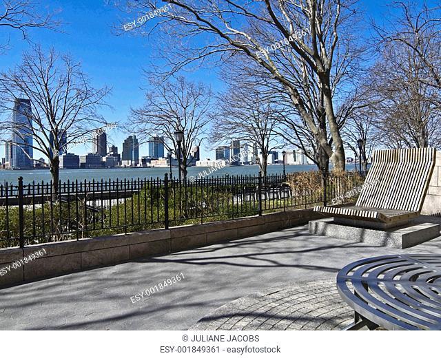Sitting at the Hudson river