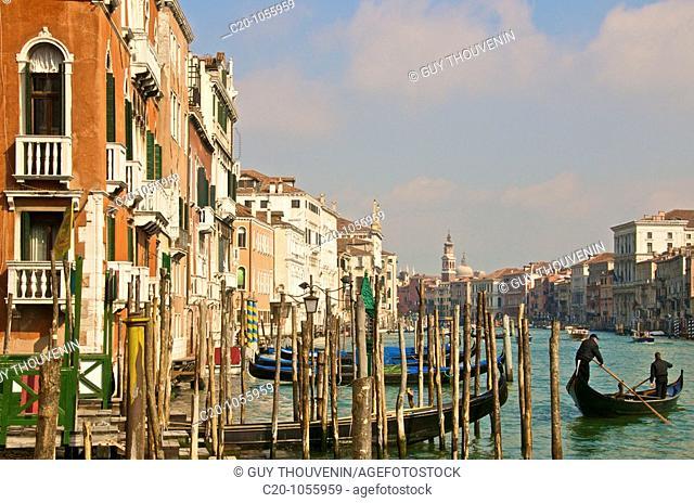 Grand Canal, Gondola, Palaces,Venice, Italy