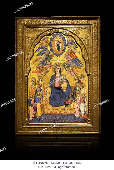 Gothic altarpiece of Madonna Of Humility With The Eternal Father In Glory, by Cenni di Francesco di Ser Cenni of Florence, circa 1375-80