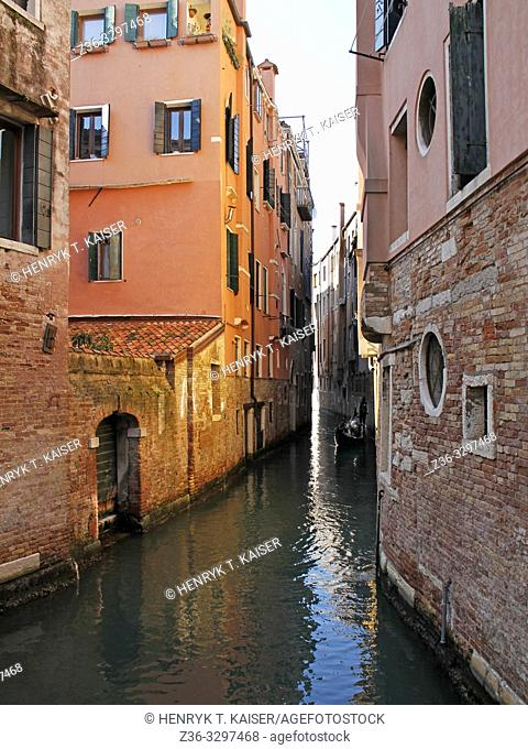View on Venetian canal, Italy