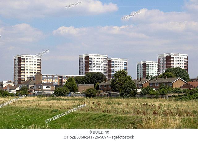 Council block estate, East London, UK