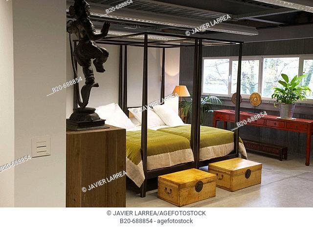Bedroom, furniture display at JMD Mugica Decoracion, Oiartzun. Guipuzcoa, Euskadi, Spain